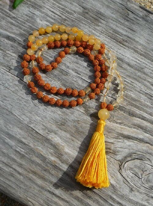 Citrine Mala with Yellow Aventurine