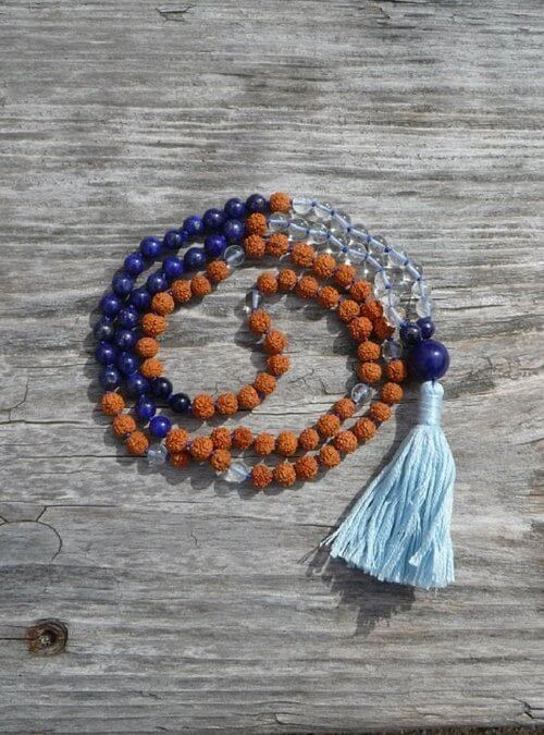 Lapis Lazuli Mala by DHARMAmalas.com