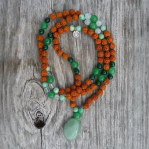 Personal Dharma Mala with Gems for Mercury