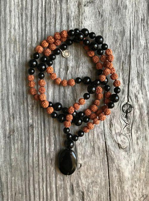 Karma Mala - Black Onyx Mala - DharmaMalas.com
